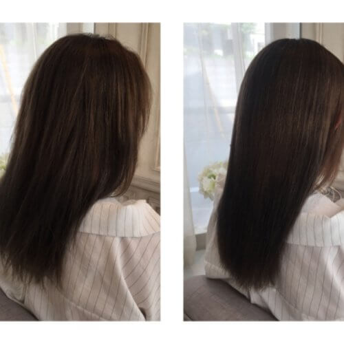 ブリーチカラーをした上に縮毛矯正をかけてチリついた髪のケア