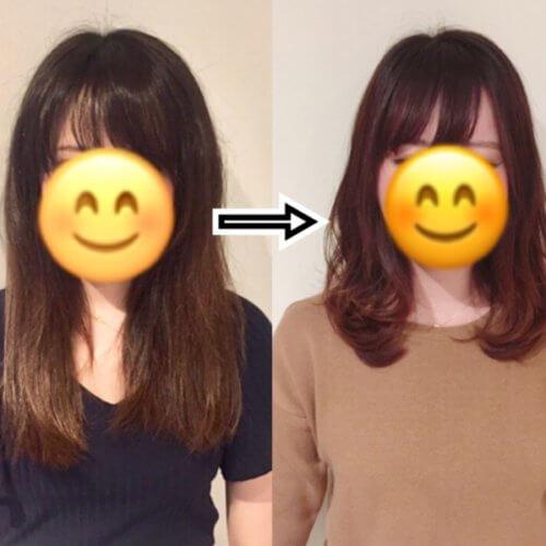 縮毛矯正&カットで広がりパサつくくせ毛でも今どきオシャレミディアムヘアはできます!!