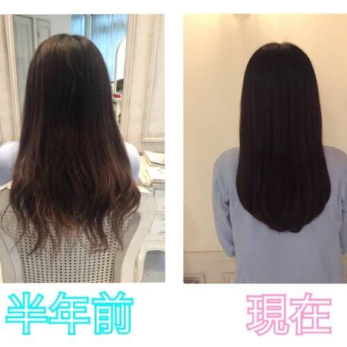 半年間でここまで綺麗に♡髪質改善&毛先調整カットでよりまとまりのある扱いやすい髪へ