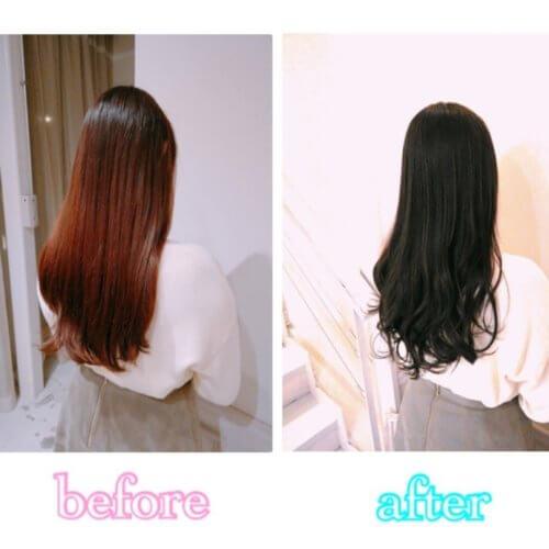 【美髪計画2回目・口コミ】色持ち重視の暗めカラーで潤いのある上品なツヤ感に