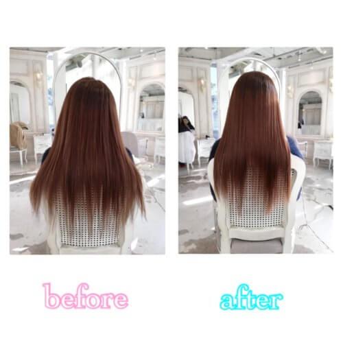 美髪計画START!初回は「Flowersを使用してシャンプーの仕方や髪の乾かし方」をお教えさせていただきました♪