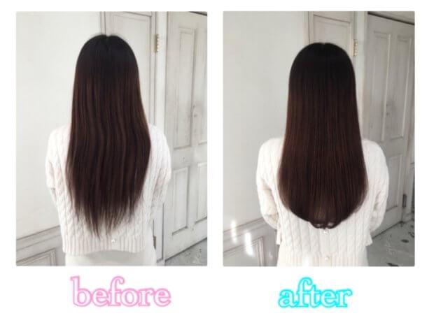 髪を綺麗に伸ばしたい!けど毛先のスカスカと枝毛が気になります。カットでどうにかなりますか?