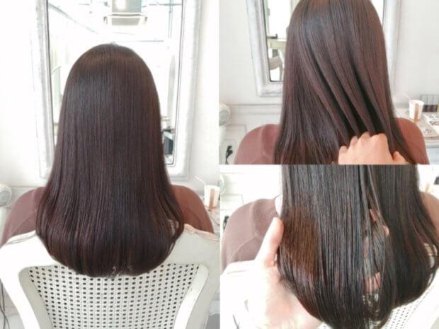 ブリーチを5〜6回して黒染めした髪に縮毛矯正はかけられますか?