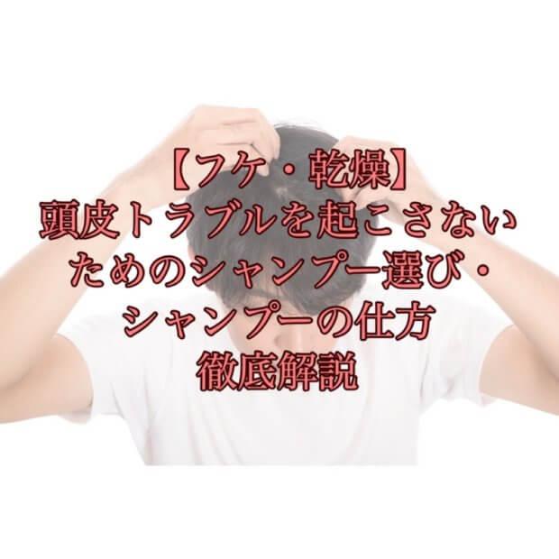 【フケ・乾燥】頭皮トラブルを起こさないためのシャンプー選び・シャンプーの仕方を解説
